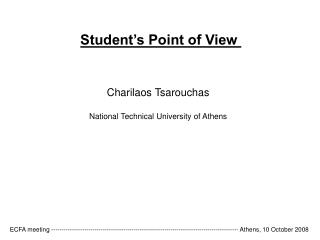 Student's Point of View