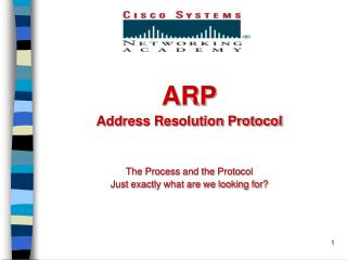 ARP Address Resolution Protocol The Process and the Protocol