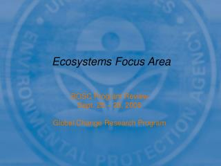 Ecosystems Focus Area
