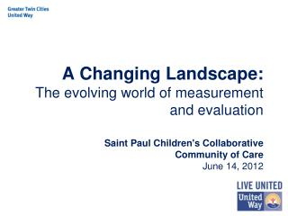 A Changing Landscape: The evolving world of measurement and evaluation