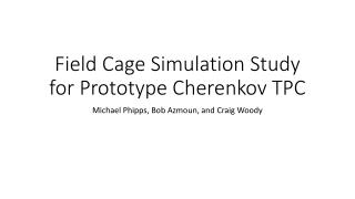 Field Cage Simulation Study for Prototype Cherenkov TPC