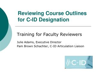 Reviewing Course Outlines for C-ID Designation