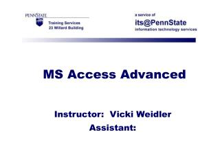 MS Access Advanced