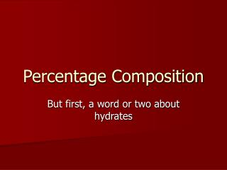 Percentage Composition