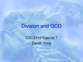 Division and GCD