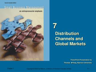 Distribution Channels and  Global Markets