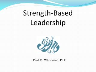 Strength-Based Leadership