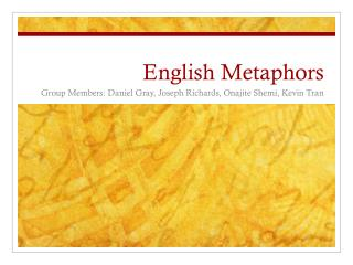English Metaphors
