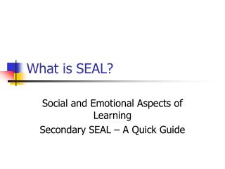 What is SEAL?
