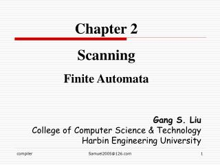 Chapter 2 Scanning Finite Automata