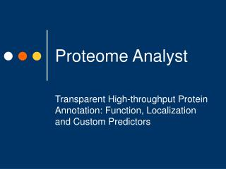 Proteome Analyst