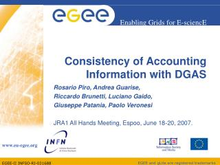 Consistency of Accounting Information with DGAS