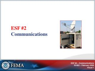 ESF #2 Communications