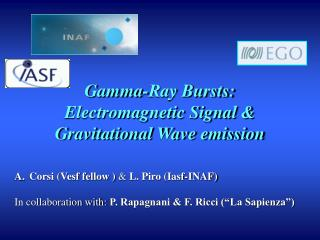 Gamma-Ray Bursts: Electromagnetic Signal & Gravitational Wave emission