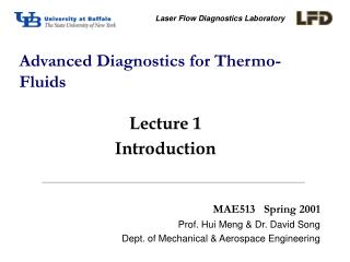 Advanced Diagnostics for Thermo-Fluids