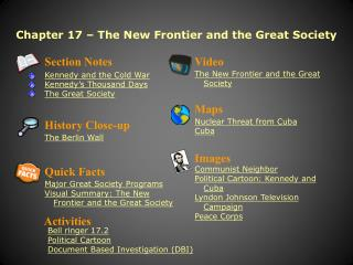 Chapter 17 – The New Frontier and the Great Society