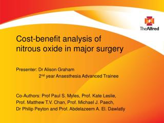Cost-benefit analysis of nitrous oxide in major surgery