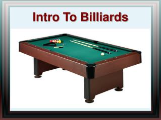 Intro to Billiards