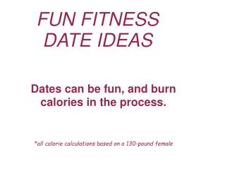 Weight Loss Dating