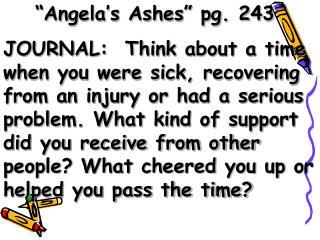 """Angela's Ashes"" pg. 243"