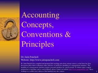 Accounting Concepts, Conventions & Principles