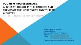 Careers in the Tourism and Hospitality Industry