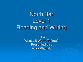NorthStar  Level 1  Reading and Writing