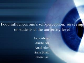 Food influences one's self-perception: surveying of students at the university level