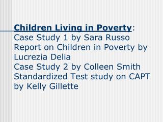 Children Living in Poverty