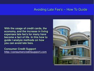 Avoiding Late Fee's – How To Guide