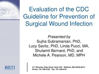 Evaluation of the CDC Guideline for Prevention of Surgical Wound Infection