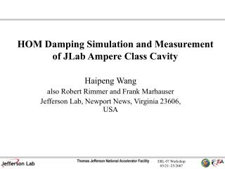HOM Damping Simulation and Measurement of JLab Ampere Class Cavity