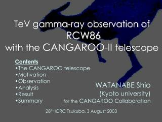 TeV gamma-ray observation of  RCW86  with the  CANGAROO-II  telescope