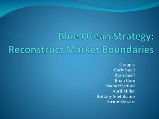 Blue Ocean Strategy: Reconstruct Market Boundaries