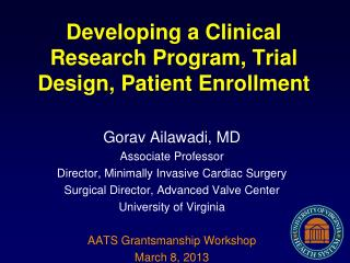 Developing a Clinical Research Program, Trial Design, Patient Enrollment