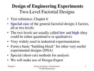Single-factor two-level design