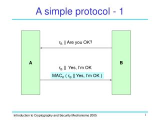 A simple protocol - 1