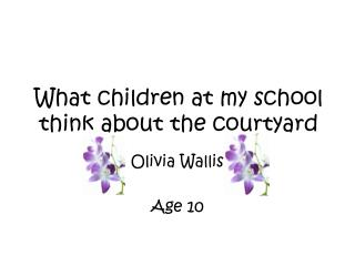 What children at my school think about the courtyard