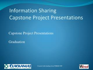Information Sharing Capstone Project Presentations