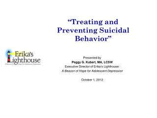 """Treating and Preventing Suicidal Behavior"""