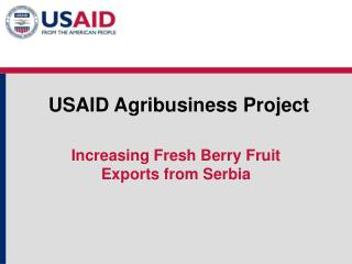 USAID Agribusiness Project