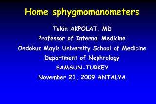Home sphygmomanometers