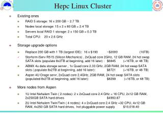 Hepc  Linux Cluster