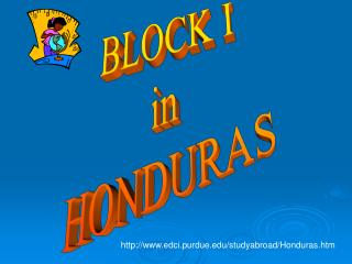 BLOCK I in HONDURAS