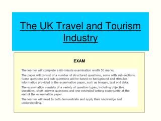 The UK Travel and Tourism Industry