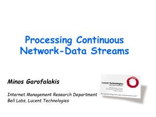 Processing Continuous Network-Data Streams