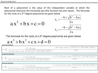 Roots of a Polynomial: