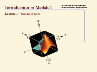 Introduction to Matlab-1
