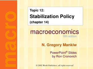 Topic 12: Stabilization Policy (chapter 14)