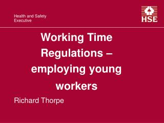 Working Time Regulations – employing young workers
